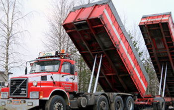 Large trucks that are using the ICS product, Cold Load Release agent