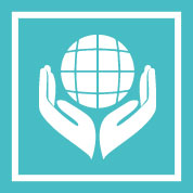 Icon of world within hands